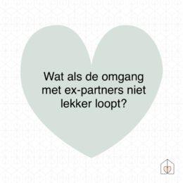 wat als de omgang met de ex partners niet goed loopt